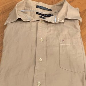 Men's Tommy Hilfiger Button Down 80's 2 Ply fabric